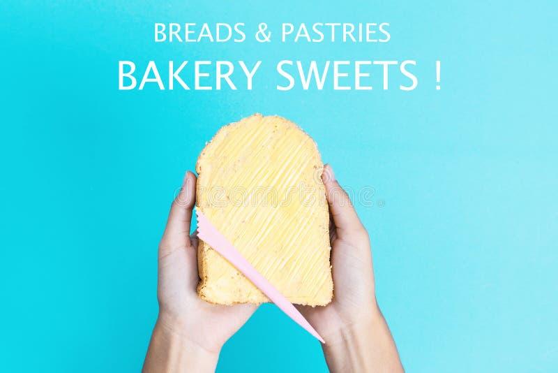 涂黄油的面包 免版税图库摄影
