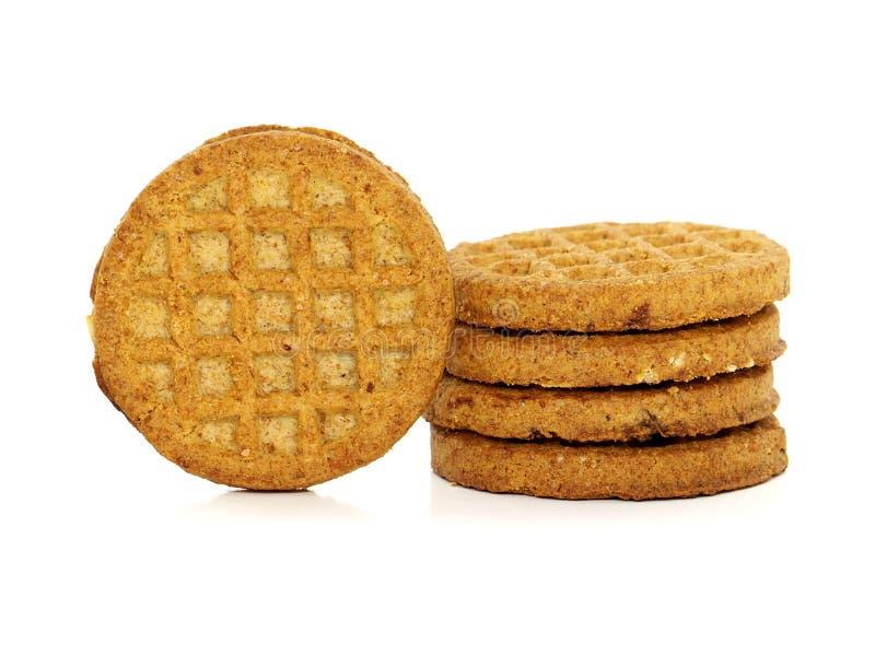 消化生物整粒饼干 库存照片