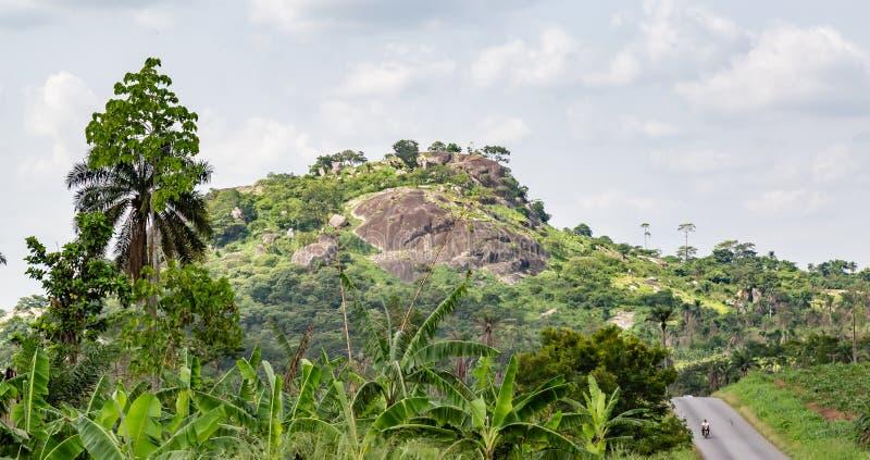 消失的农村路埃基蒂州尼日利亚 免版税库存图片