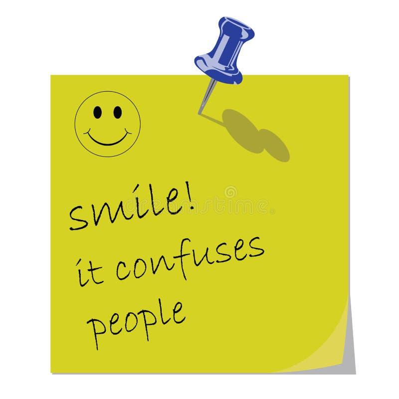 消息微笑 向量例证