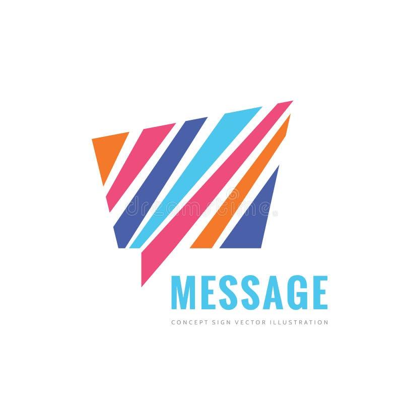 消息概念传染媒介商标模板设计 咨询创造性的标志 谈的闲谈象 皇族释放例证