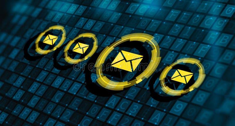 消息电子邮件邮件通信网上闲谈事务 向量例证