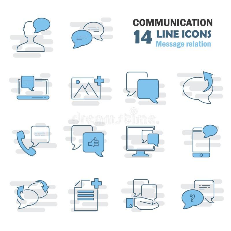 消息联系线普遍象为网和流动设计设置了 向量例证