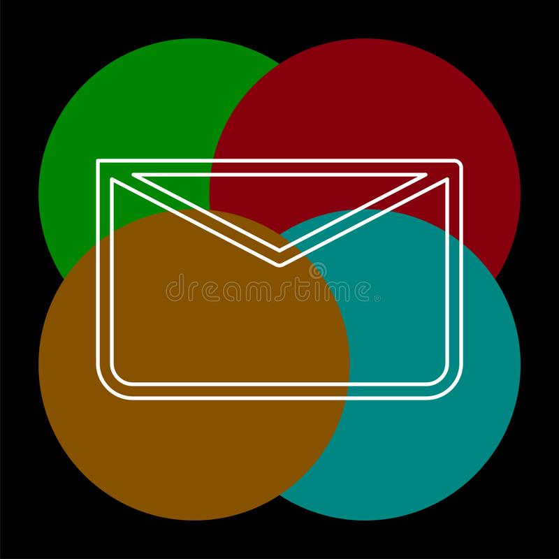 消息象,信封例证-传染媒介邮件 库存例证