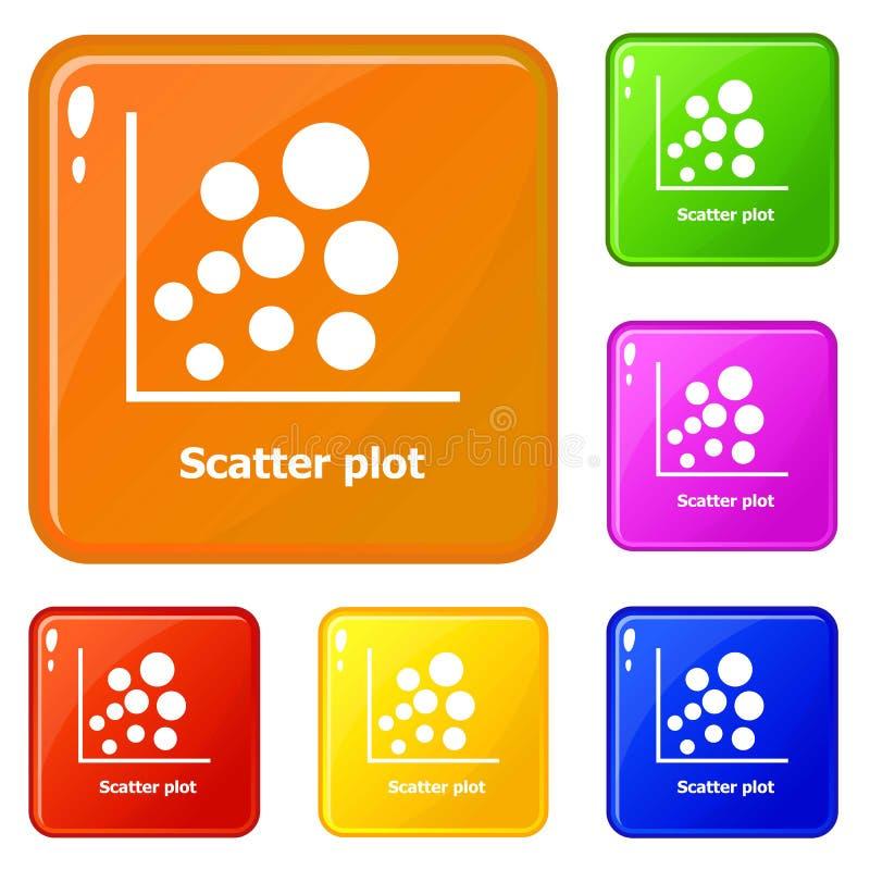 消散剧情象被设置的传染媒介颜色 库存例证