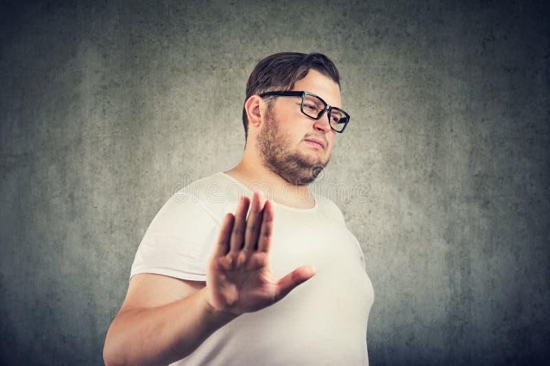 消极情感面孔表示感觉肢体语言 库存照片