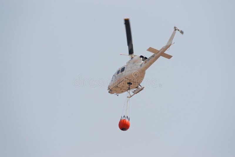消火直升机 免版税库存图片
