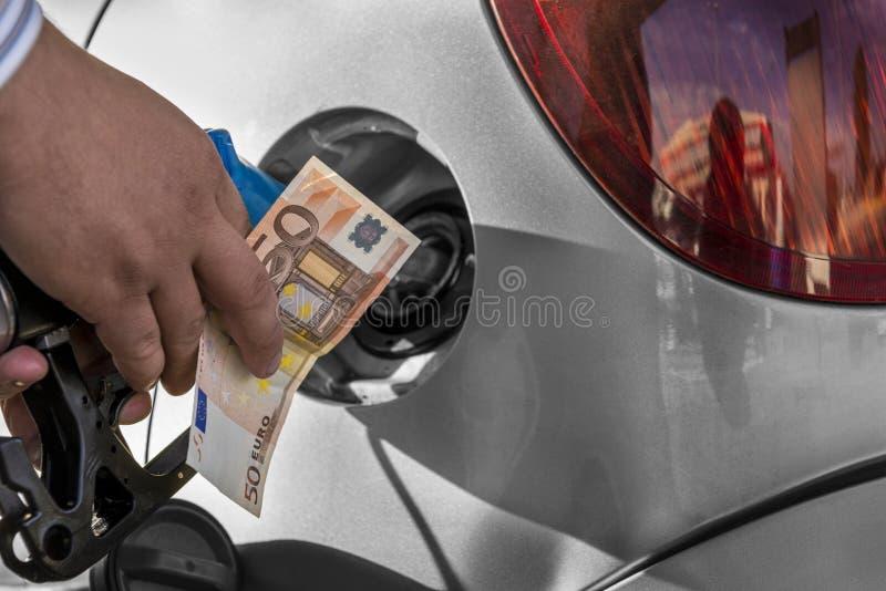 消耗大的燃料 免版税库存照片