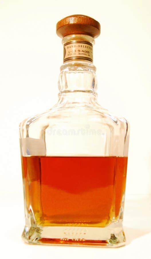 消耗大的玻璃威士忌酒 库存照片