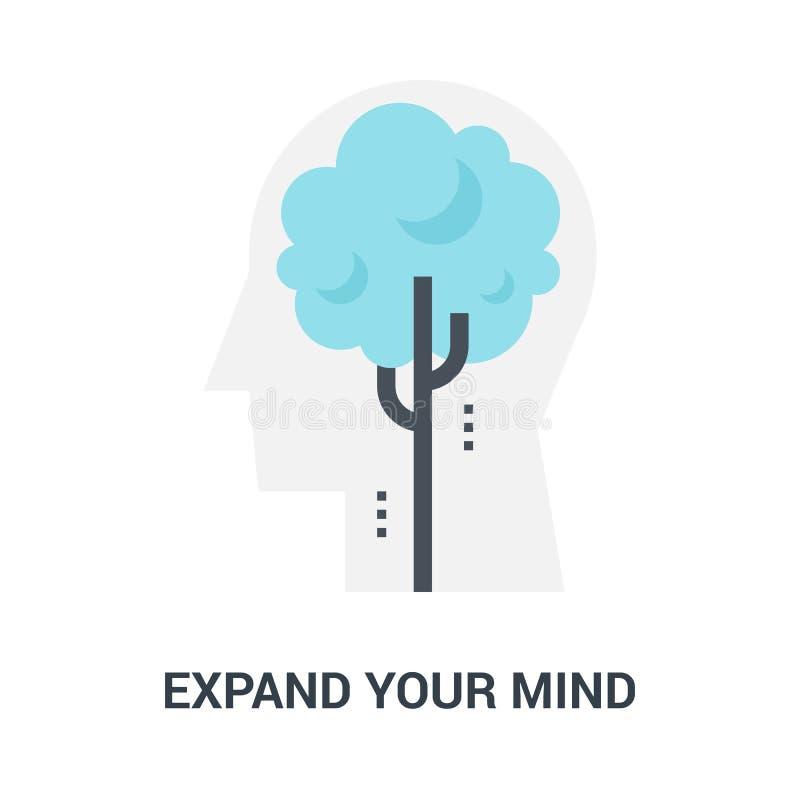消费您的头脑象概念 皇族释放例证
