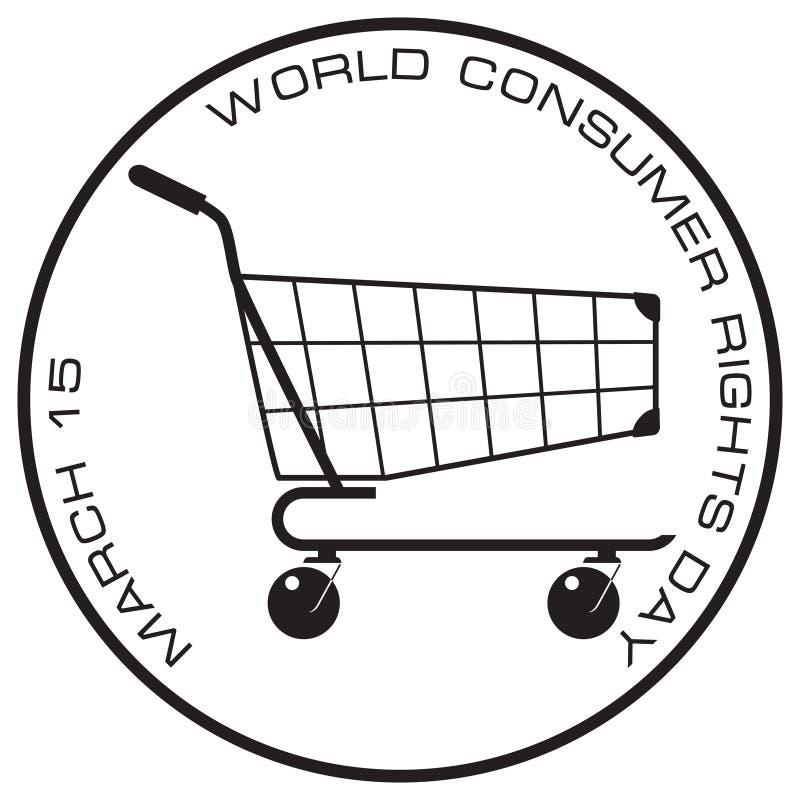 消费者保护法邮票 向量例证