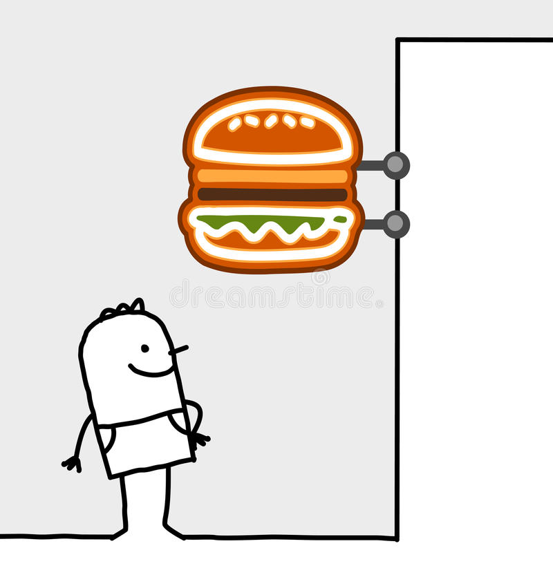 消费者快餐界面符号 向量例证