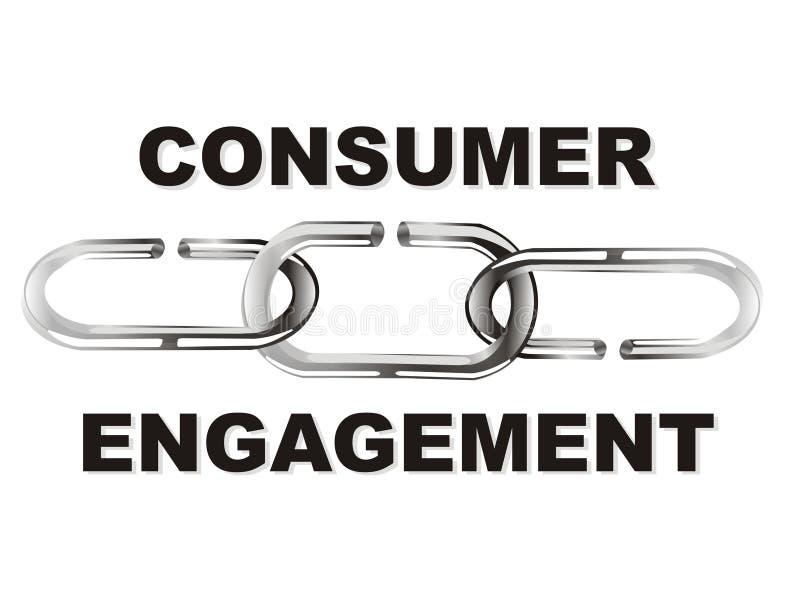消费者订婚 向量例证