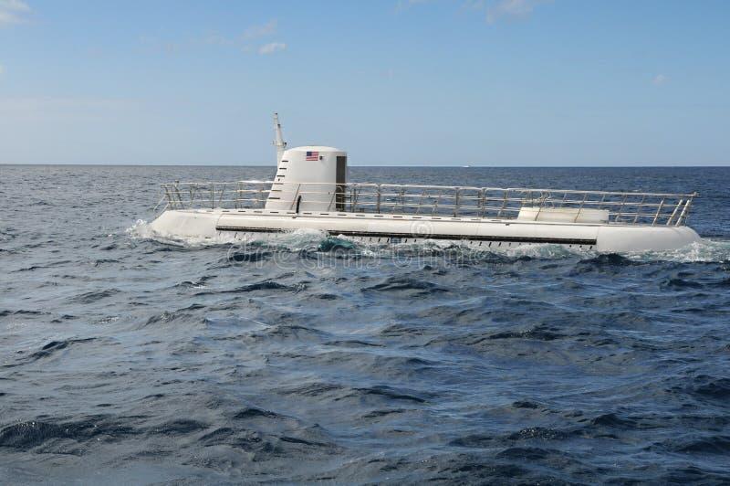 消遣潜水艇表面化 免版税库存照片