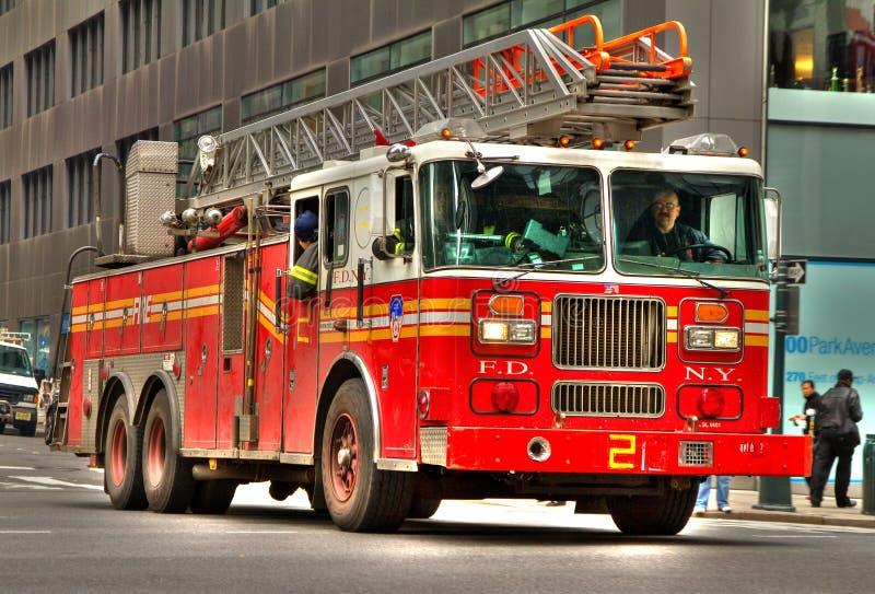 消防员卡车 库存图片