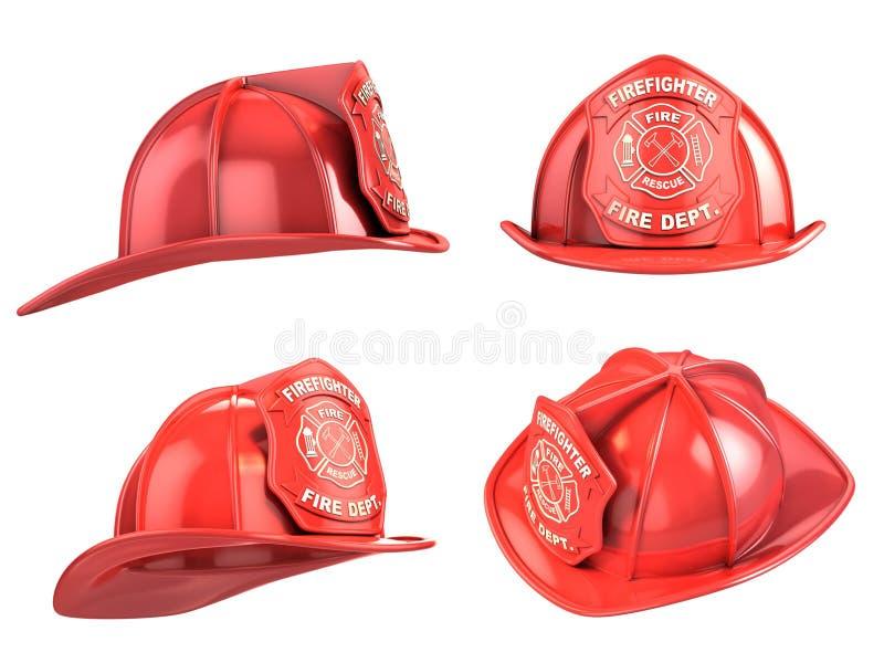 消防员盔甲 皇族释放例证