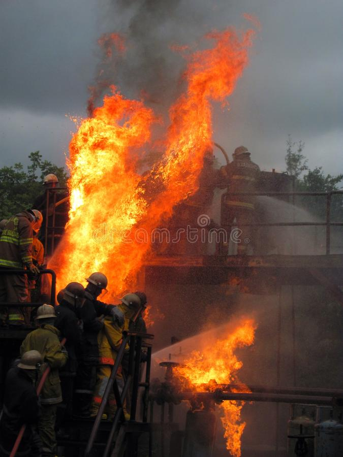 消防员 库存照片