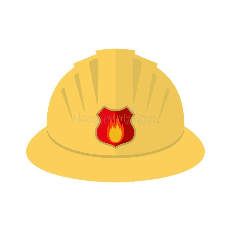 消防员` s盔甲 图标 在空白背景查出的向量例证 皇族释放例证