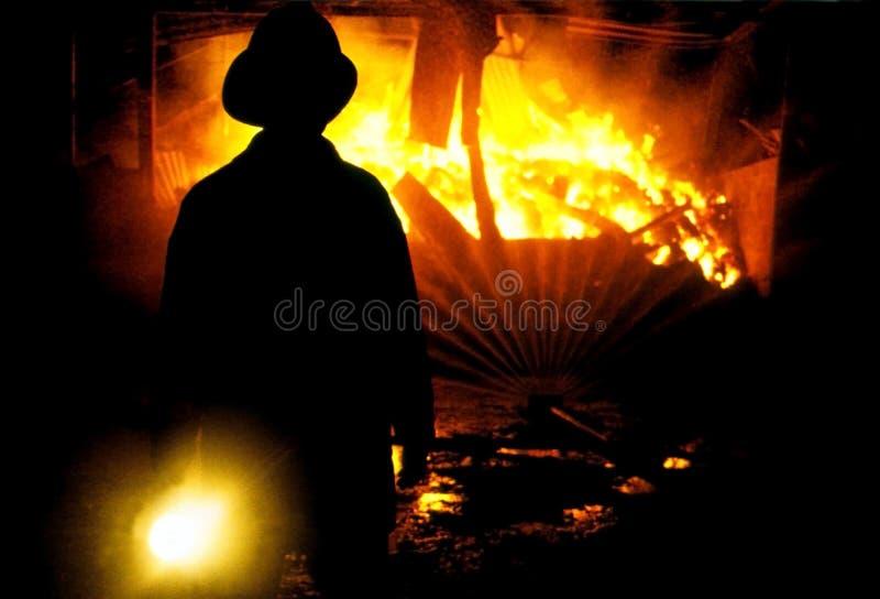 消防员shing的火炬 库存照片
