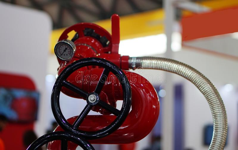 消防在产业的设备阀门看法  免版税库存图片