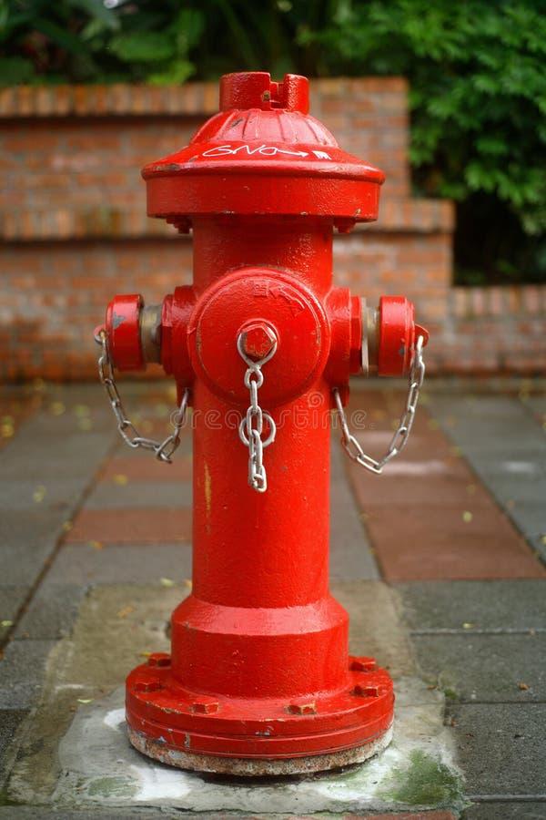 消防栓红色 免版税图库摄影