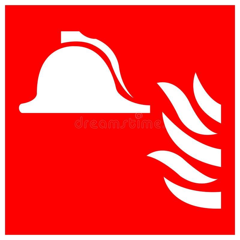 消防设备标志在白色背景,传染媒介例证EPS的标志孤立的汇集 10 皇族释放例证
