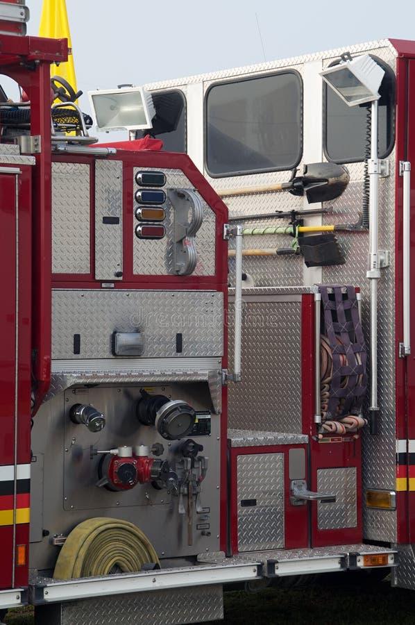 消防车细节  免版税库存图片