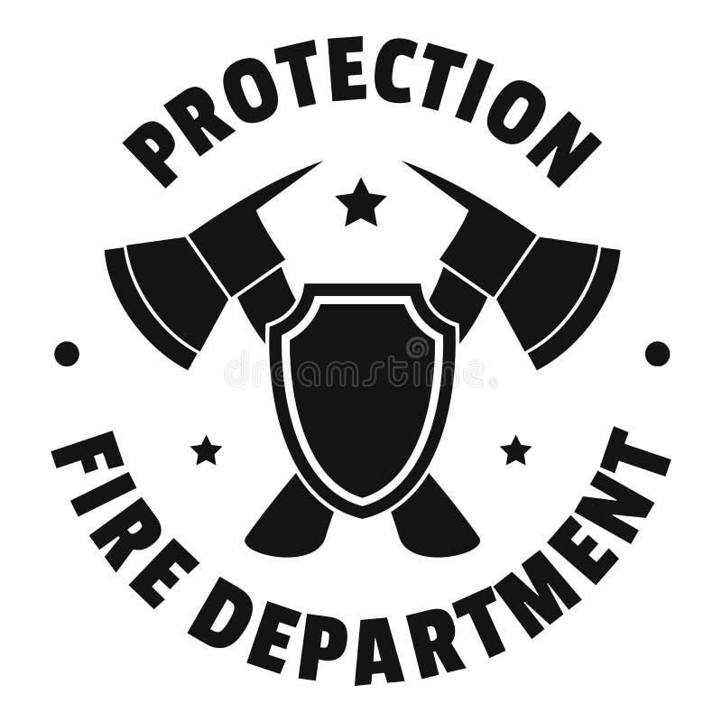 消防部门商标,简单的样式 库存例证