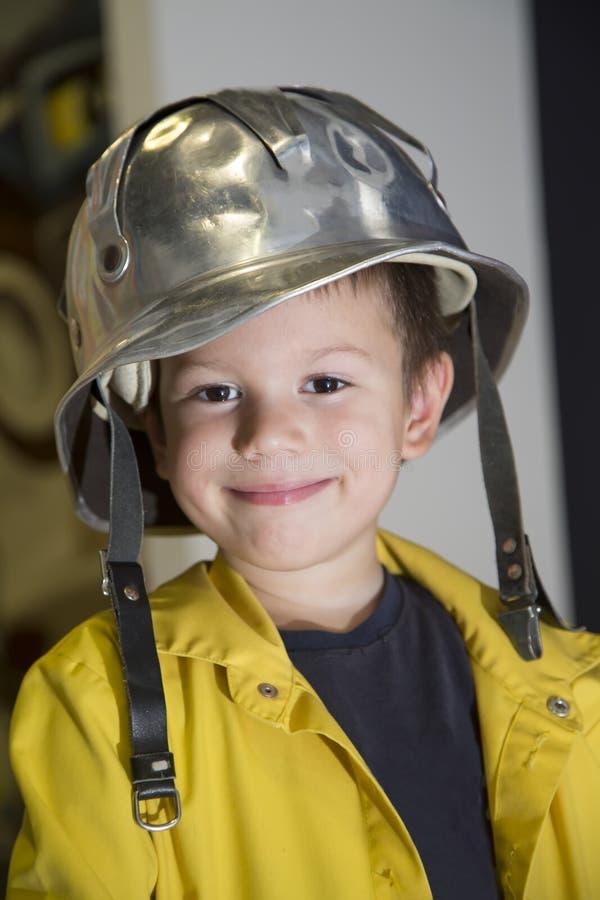消防队员一点 免版税库存照片