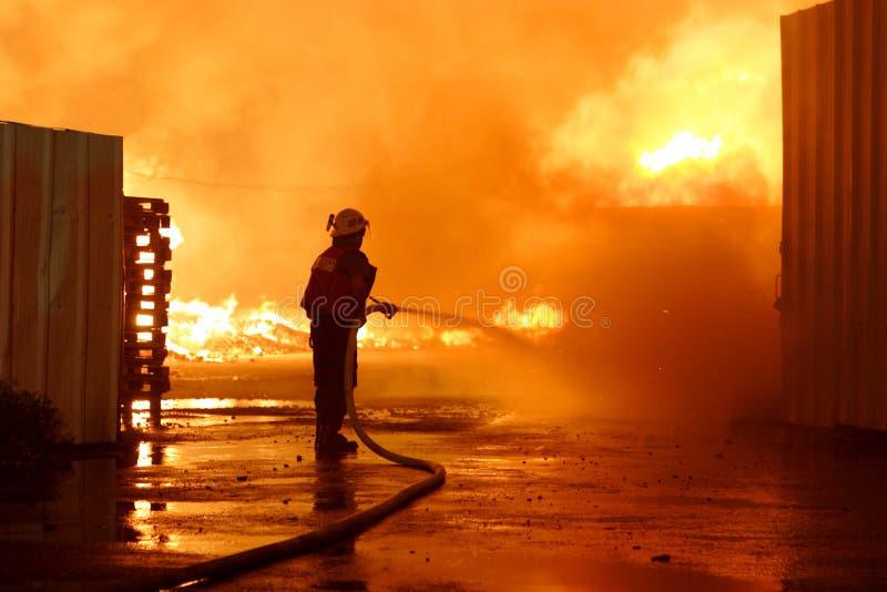 消防队员小组 图库摄影
