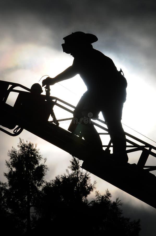 消防队员梯子 图库摄影