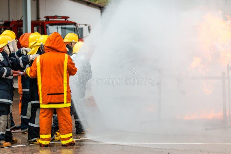 消防队员的培训 库存照片