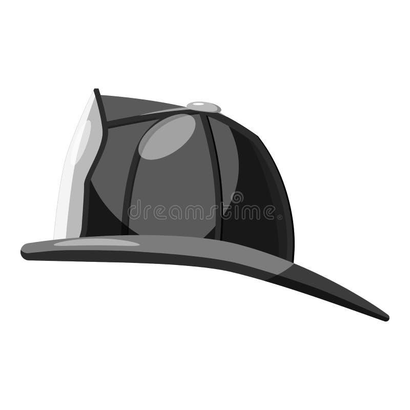 消防队员盔甲象,灰色单色样式 皇族释放例证