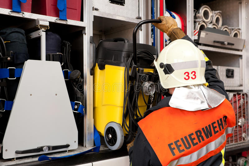 消防队员 免版税库存照片