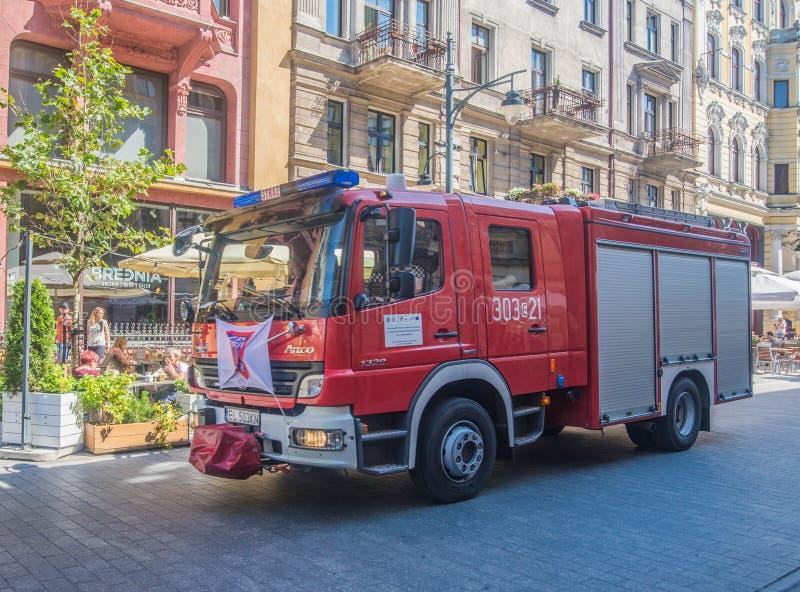 消防队抢救卡车驾驶 免版税库存图片