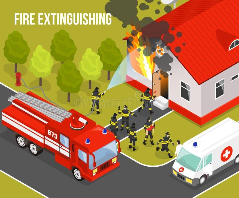 消防队构成 向量例证