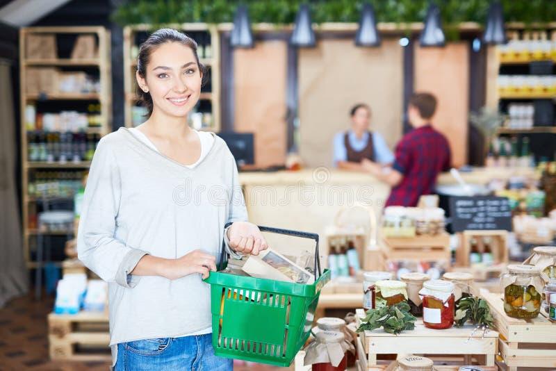 消费者在超级市场 免版税图库摄影