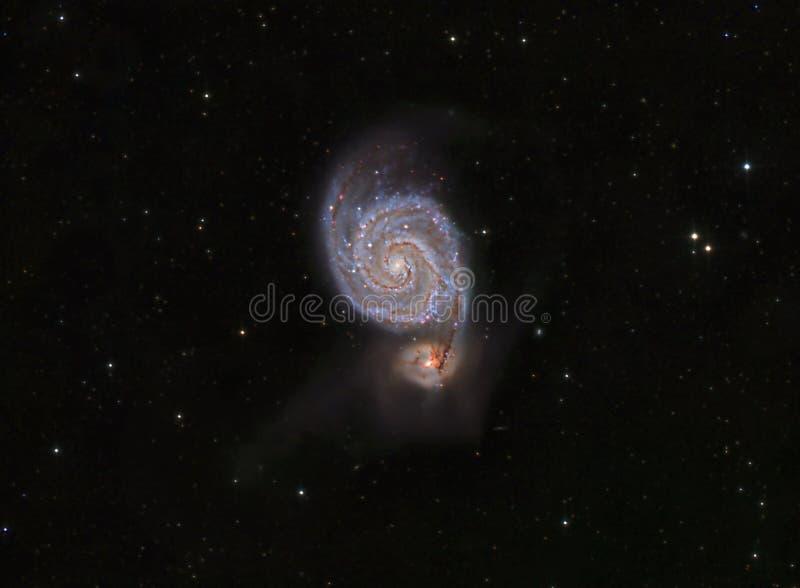 涡状星系,亦称更加杂乱51 免版税库存照片