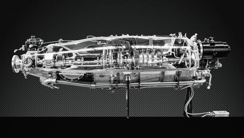 涡轮发动机外形 航空技术 库存图片
