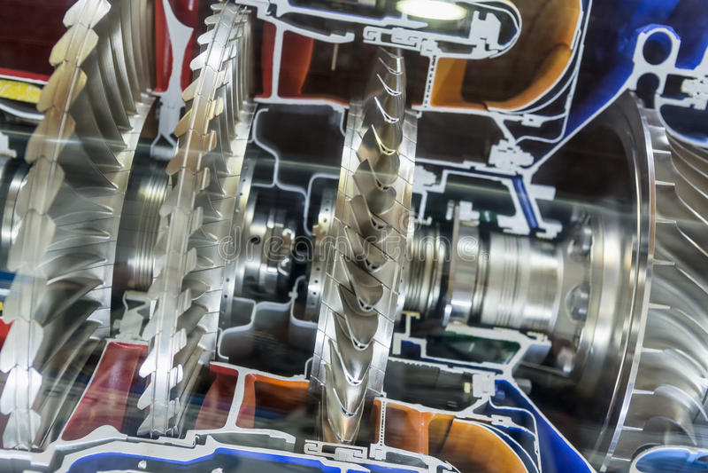 涡轮发动机外形 航空技术 免版税库存图片