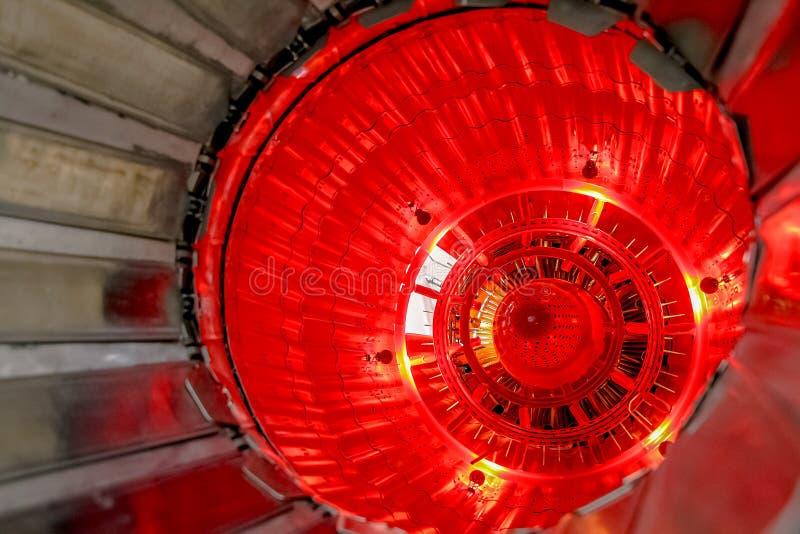 涡轮喷气引擎关闭 免版税库存照片