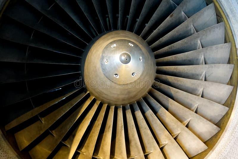 涡轮有镍合金的飞机发动机 免版税库存照片