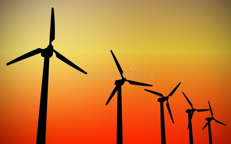 涡轮风 向量例证
