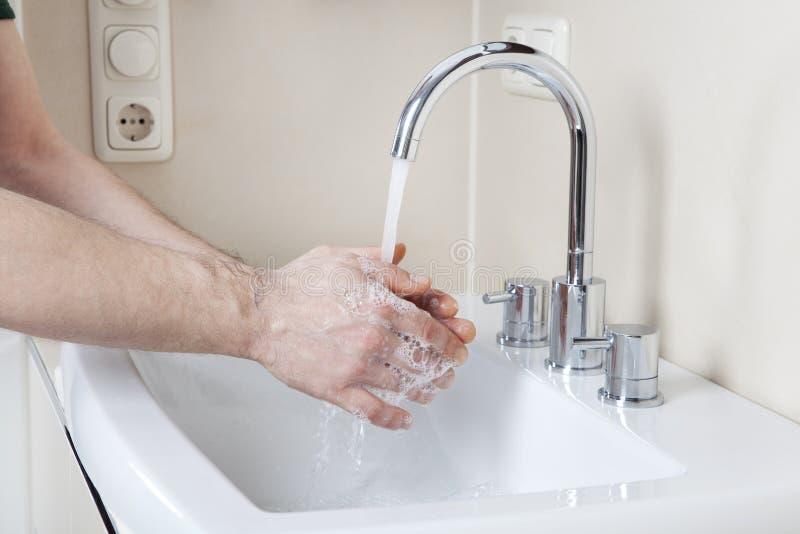 洗涤手 库存图片
