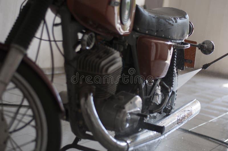 洗涤摩托车'IZH 库存照片