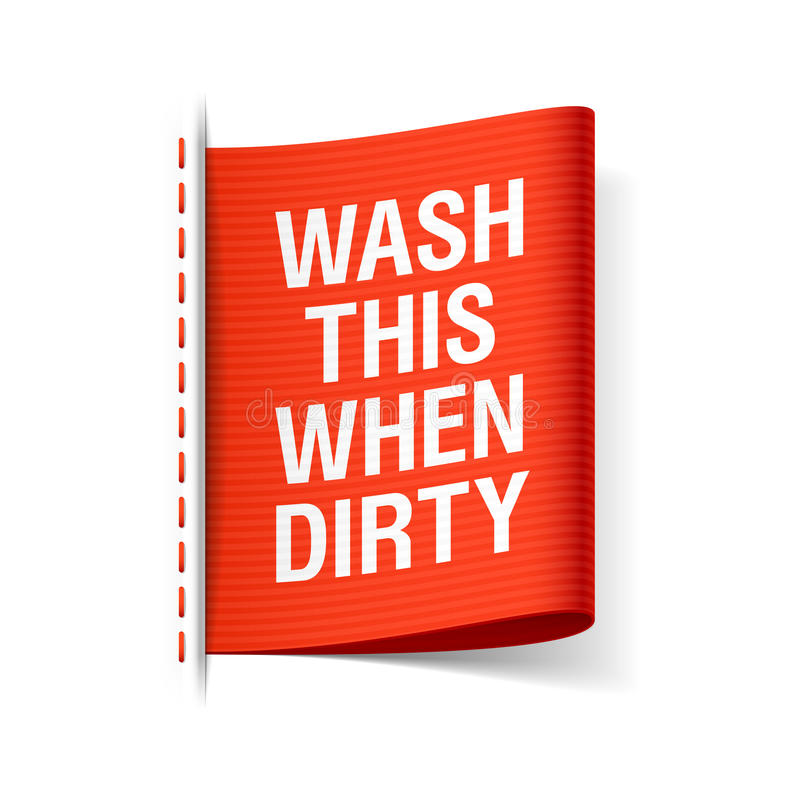 洗涤此,当肮脏 向量例证