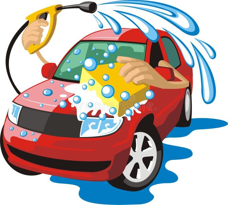 洗涤汽车 库存例证