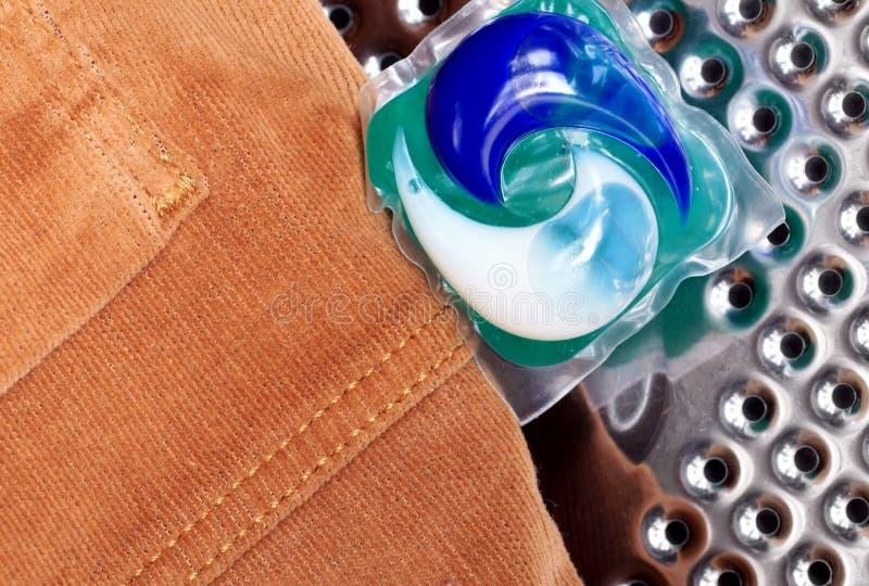 洗涤的胶凝体胶囊 库存图片