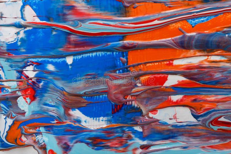 液体丙烯酸漆背景 可变的绘画摘要纹理 库存例证