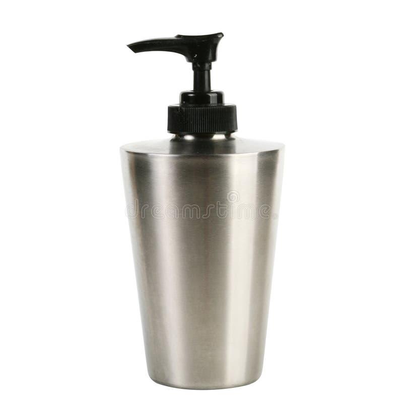 液体小玻璃瓶肥皂 库存照片